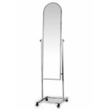 Зеркало примерочное напольное на колесах 39,5Wx41Dx157H, рама – серебро