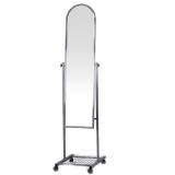 Зеркало примерочное напольное на колесах W=39,5x41Dx157H, рама - хром
