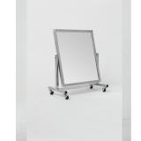 Зеркало примерочное напольное для обуви на колесах, 550Lx700Hx425D мм, зеркальное полотно 540х500 мм.